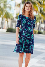 Bamboo Print Swing Dress