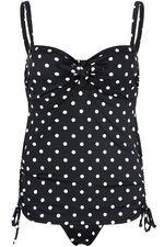 Black Spot Mock Tankini Swimsuit