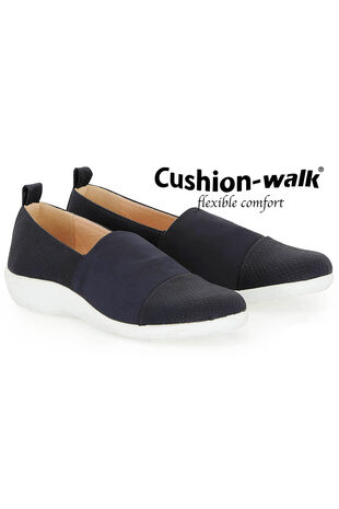 Cushion Walk Snake Effect and Stretch Upper Slip On Shoe