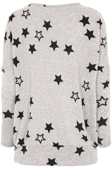 Stella Morgan Star Print Soft Touch Sweater