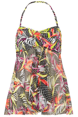 Printed Mesh Tankini Top