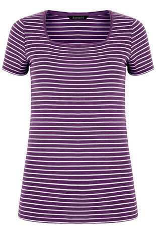 Square Neck Stripe T-Shirt