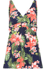 Tropical Print Swimdress