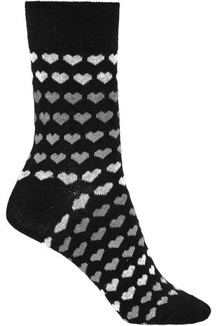 Stripe Heart Lurex Socks