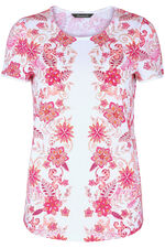 Tropical Mirror Print T-Shirt