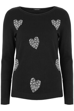 Embellished Heart Jumper