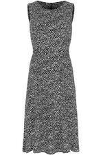 Sleeveless Spot Fit And Flare Dress