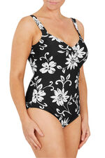 White Large Flower Wrap Swimsuit