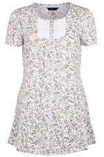 Floral Print Peplum T-Shirt