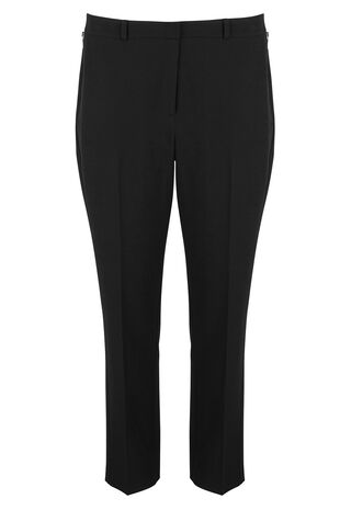 Tapered Zip Detail Trousers