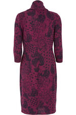 Paisley Print Cowl Neck Dress