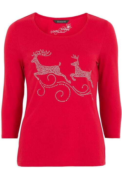 Dancing Reindeer Placement T-Shirt