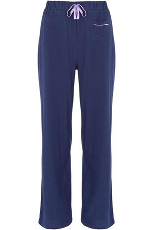 Navy Wide Leg Pyjama Pant