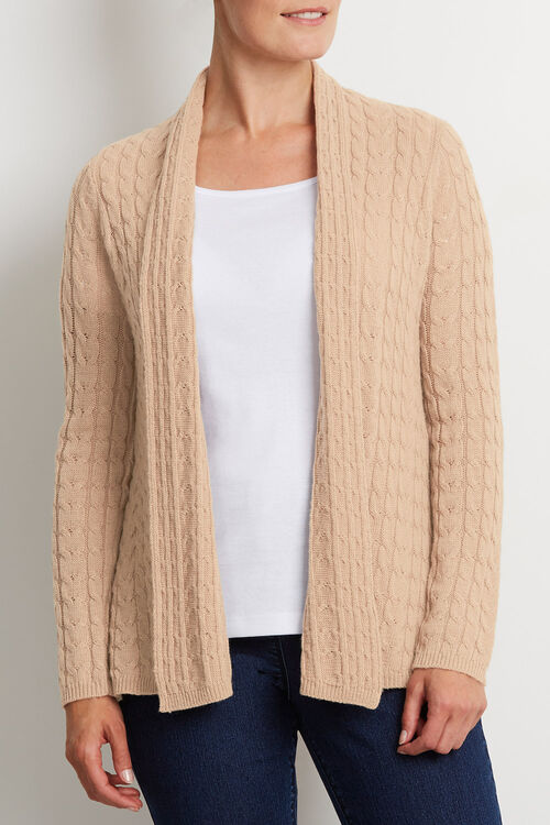 All Over Cable Cardigan