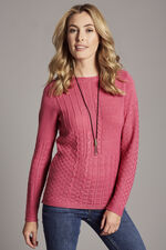 Patchwork Cable Jumper