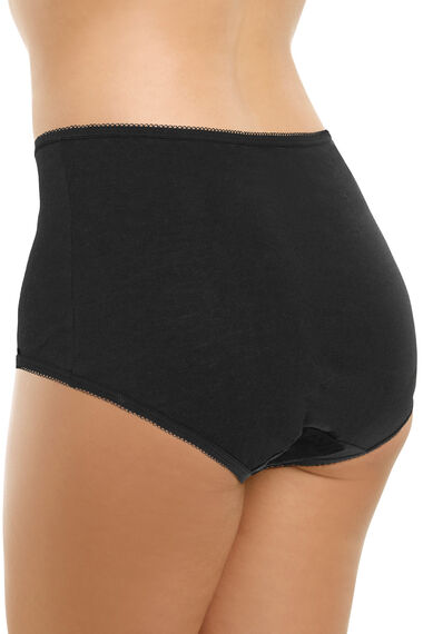 Embroidered Front Panel Cotton Full Brief