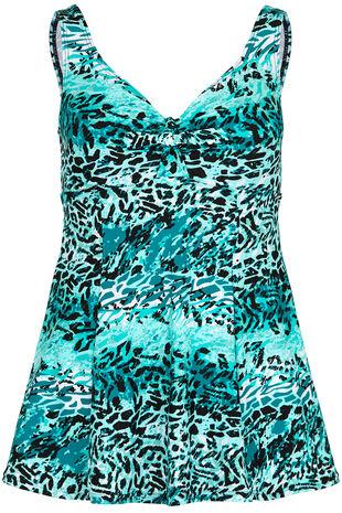 Jade Animal Print Swim Dress