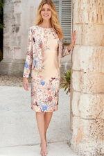 Oriental Print Shift Dress