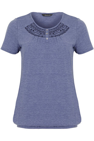 Embroidered Raglan Gypsy T-Shirt