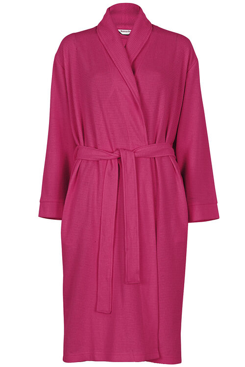 Pink Textured Dressing Gown