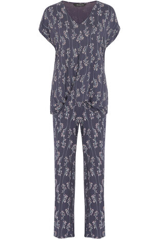 Grape Print PJ Set