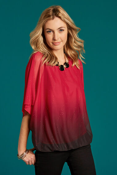 Glitter Ombre Blouse