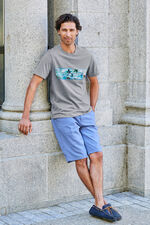 Tropical Placement Print T-Shirt