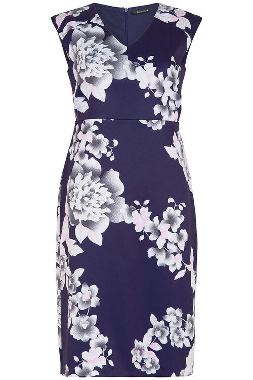 Oriental Print Shift Dress