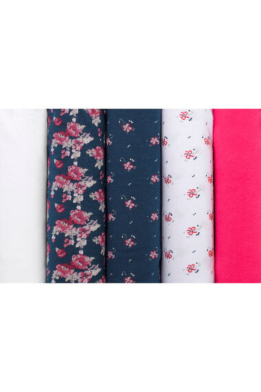 Five Pack Cluster Floral Briefs