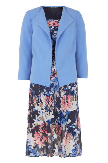 Short Sleeve Floral Dress And Jacket