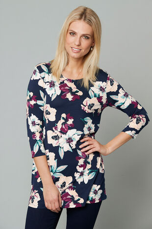 Floral Print Jersey Tunic