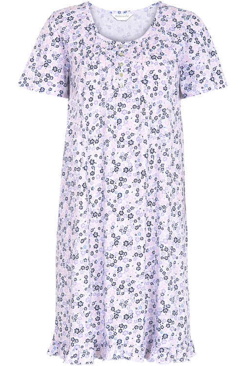 Floral Pleat Nightshirt
