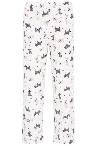 Gift Wrapped Scotty Dog Print PJ Set