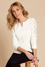Lace Shoulder Cardigan