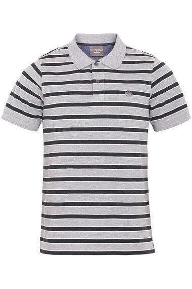 Grey Stripe Polo