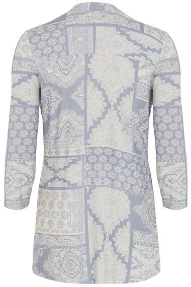 Paisley Print Pintuck Jersey Shirt