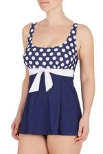 Large Spot Print Swim dress