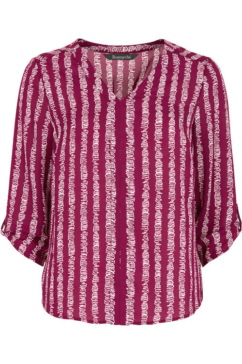 Scribble Stripe Blouse