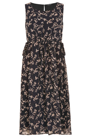 Signature Scroll Print Dress
