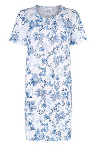 Navy Large Floral Print Nightdress