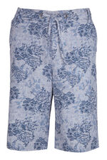 Floral Printed Linen Shorts