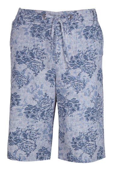 Floral Printed Cotton Shorts