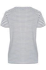 Stripe & Floral Print T-Shirt