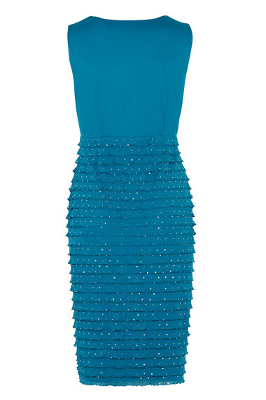 David Emanuel Frill Shutter Dress