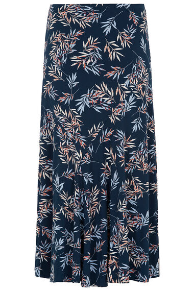 Leaf Print Cut About Skirt