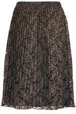 Foil Pleated Lace Skirt