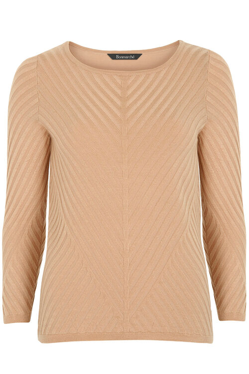 Chevron Stitch Detail Jumper