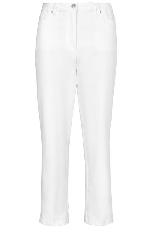 Embroidered Pocket Straight Leg Jeans