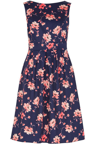 Floral Sateen Dress
