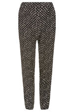 Diamond Print Jersey Harem Trousers